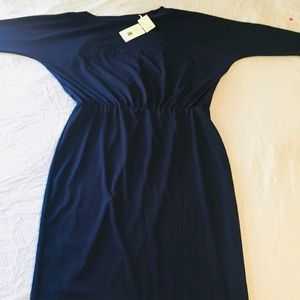 Beautiful navy casual dress/very stretchy/New